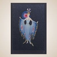 """ERTE (Romain de Tirtoff ) (Russian/French 1892- 1990) Closed Limited Edition, """"Twilight"""" Signed and Numbered, c. 1987"""