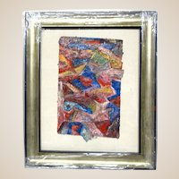 ALEXANDER GORE (Russian/American 20th Century)   Original Abstract Impasto Mixed Media Painting Signed, With Artist's COA -
