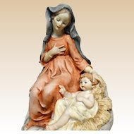 G. ARMANI Madonna and Holy Child, Signed