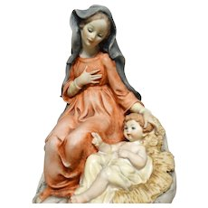 SPECIAL REDUCED FOR MOTHER'S DAY!  -   G. Armani  Very Beautiful Madonna and Holy Child, Signed