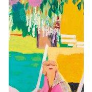 """ROBERTO ORTUNO PASQUAL (Spanish, born 1953) """"Woman In Garden """" Original Signed Oil on Canvas, Impressionist"""