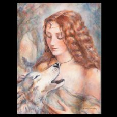 NANCY CHIEN-ERIKSEN (American, 20th Century) - Original Signed Mixed Media On Canvas