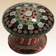 EXTREMEMLY RARE Antique Clichy Concentric Millefiori Miniature Piedouche Weight