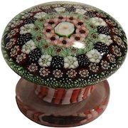 EXTREMEMLY RARE Antique Clichy Concentric Millefiori Miniature Piedouche Weight