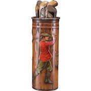 MacFarlane Lang & Co. Golf Bag Biscuit Tin, Circa 1913 - VERY RARE!