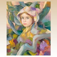 "FRANCISCO J.J.C. MASSERIA (Argentinian 1926 - 2002) - Original Signed Impressionist Portrait Oil on Canvas ""Dolly"""
