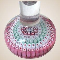 Antique Whitefriars Concentric Millefiori Crystal Vase