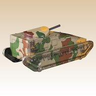 RARE Vintage Tank-Form Biscuit Tin With Gun Turret Lid, by Huntley & Palmers