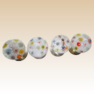 FIVE Exquisite Millefiori Drawer Pulls`