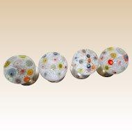 FIVE Exquisite Millefiori Drawer Pulls`