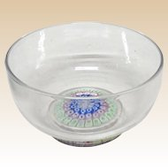Antique Whitefriars Footed Concentric Millefiori Crystal Bowl