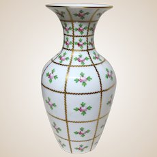 HEREND Porcelain Large  Vase (9  7/8 inches tall) - Graceful, Elegant and Exquisite