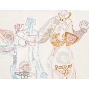 "SEBASTIEN HADENGUE (French, born 1932) Original Oil On Canvas ""Les filles du Palladium""  Modernist"