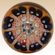 Lovely Millefiori Art Glass Paperweight