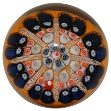 Lovely Millefiori Art Glass Paperweight