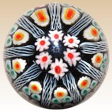 Lovely Vintage  Art Glass Millefiori Paperweight