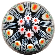 Lovely Vintage  Art Glass Millefiori Paperweight