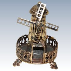 JUDAICA Sterling Silver Miniature Windmill Spice Box (Besamim)