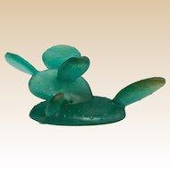 DAUM Signed Green Pate-de-Verre Cactus, From France