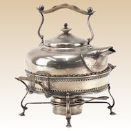 STERLING Silver Teapot and Warmer, Signed and Hallmarked