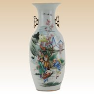 Antique Large Chinese Famille Rose Porcelain Vase