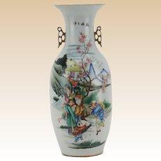 Antique Large Chinese Famille Rose Porcelain Vase