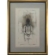 """ALBERT GIACOMETTI (Swiss, 1901-1966) Lithograph - """"Caroline""""  Signed and Dated In The Plate"""