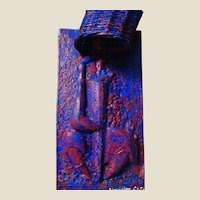 ALEXANDER GORE (Russian/American 20th Century) Large Original Signed Abstract Mixed Media Sculpture Wall Hanging