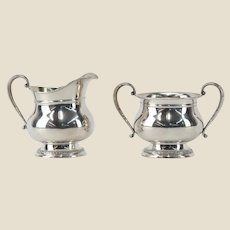 "INTERNATIONAL Sterling Silver ""Prelude"" Creamer and Sugar."