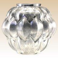 R. LALIQUE - Clear Glass Nivernais Vase. Circa 1927.