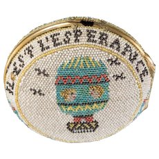 18th Century Rare  French Beaded Pocket Watch Case with Balloon Motif