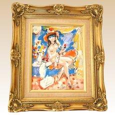 "CHARLES COBELLE (French/American 1902-1998) - Original Signed Oil ""Joie de Vivre"" (Joy of Life)"