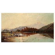 "EDWIN HENRY BODDINGTON (British, 1823 - 1905)  ""Ballachulish, Scotland""  Original Signed/Dated 1879 Oil On Canvas"