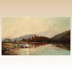 "EDWIN HENRY BODDINGTON (British, 1823 - 1905)  ""Ballachulish, Scotland""  Original Signed/Dated 1879 Oil On Canvas"