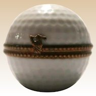 Ancienne Manufacture Royale Golf Ball Trinket Box - Limoges, France