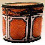 Italian Enameled Metal Trinket Box or Snuff Box With Wonderful Patterns