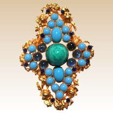 WILLIAM DE LILLO Maltese Cross Brooch or Pendant, circa 1960s