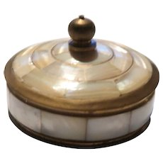 Mother of Pearl  Lidded Trinket Box or Dresser Box