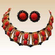 William de Lillo Egyptian Revival Collar Necklace