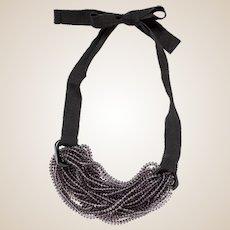 Emporio Armani Ribbon and Beaded Necklace