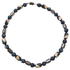 """Vintage Blue """"Puzzle Necklace"""""""