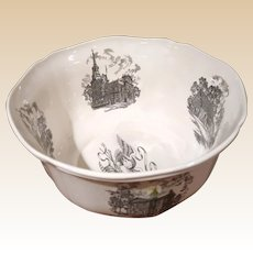 Rare First Edition Wedgwood Large Centerpiece Philadelphia Bowl, Fluted Edges, Perfect Condition