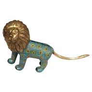 Vintage Cloisonne Asian Lion