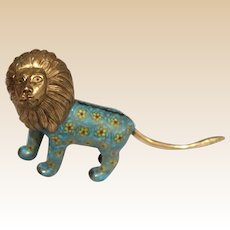 Vintage Cloisonne Asian Lion
