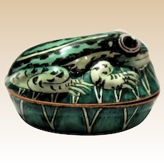 Frog Lidded Trinket Dresser Box