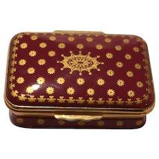 HALCYON DAYS Enamel Trinket Box/Dresser Box From England -  Elegant and Beautiful