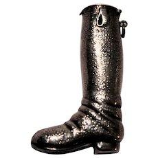 Sterling Silver Boot Form Match Safe (Vesta)