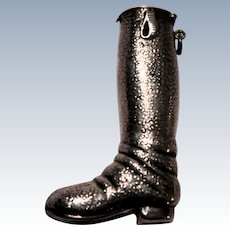 Sterling Silver Boot Form Match Safe (Vesta)