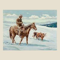 "SAM WISNOM (20th Century - American) - Original Oil on Canvas  ""Found"""