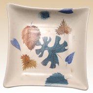 "SASCHA BRASTOFF (American 1918 - 1993) - ""Leaves"" Lovely Signed Plate  - Circa 1947."